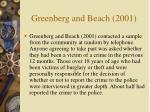 greenberg and beach 2001