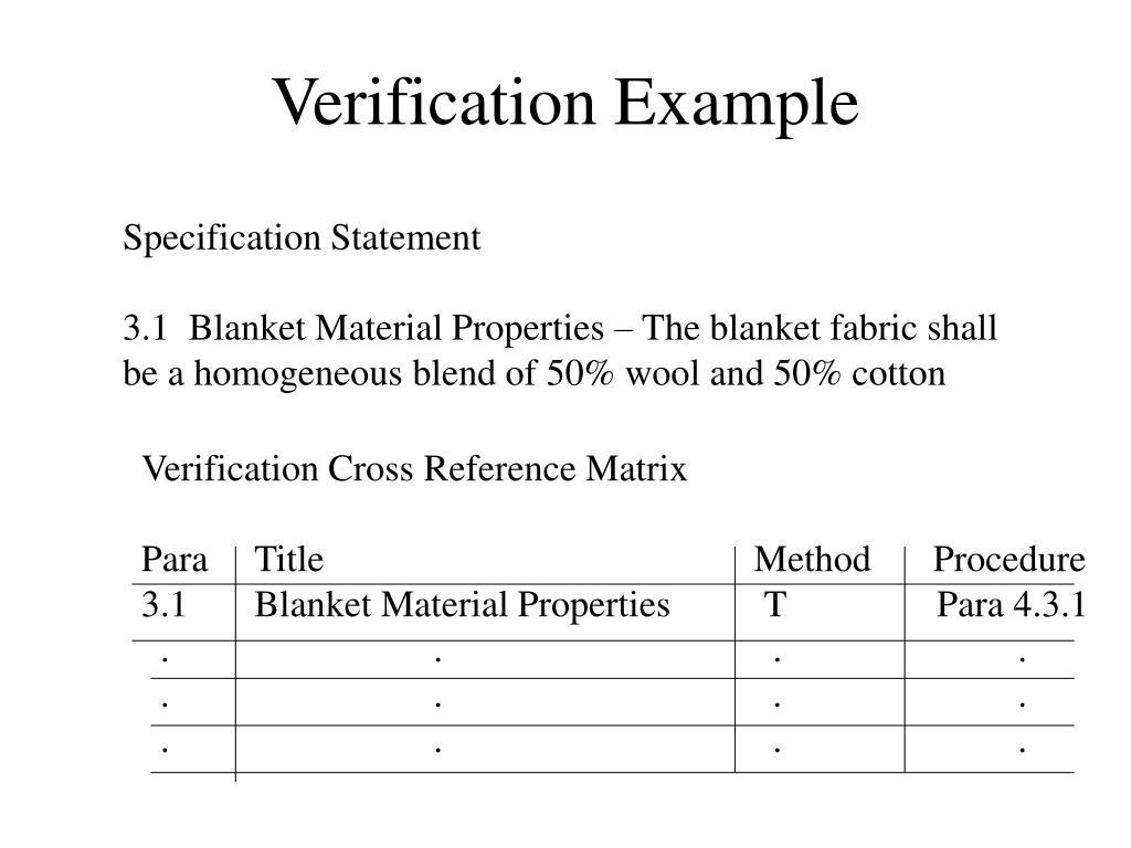 Verification Example