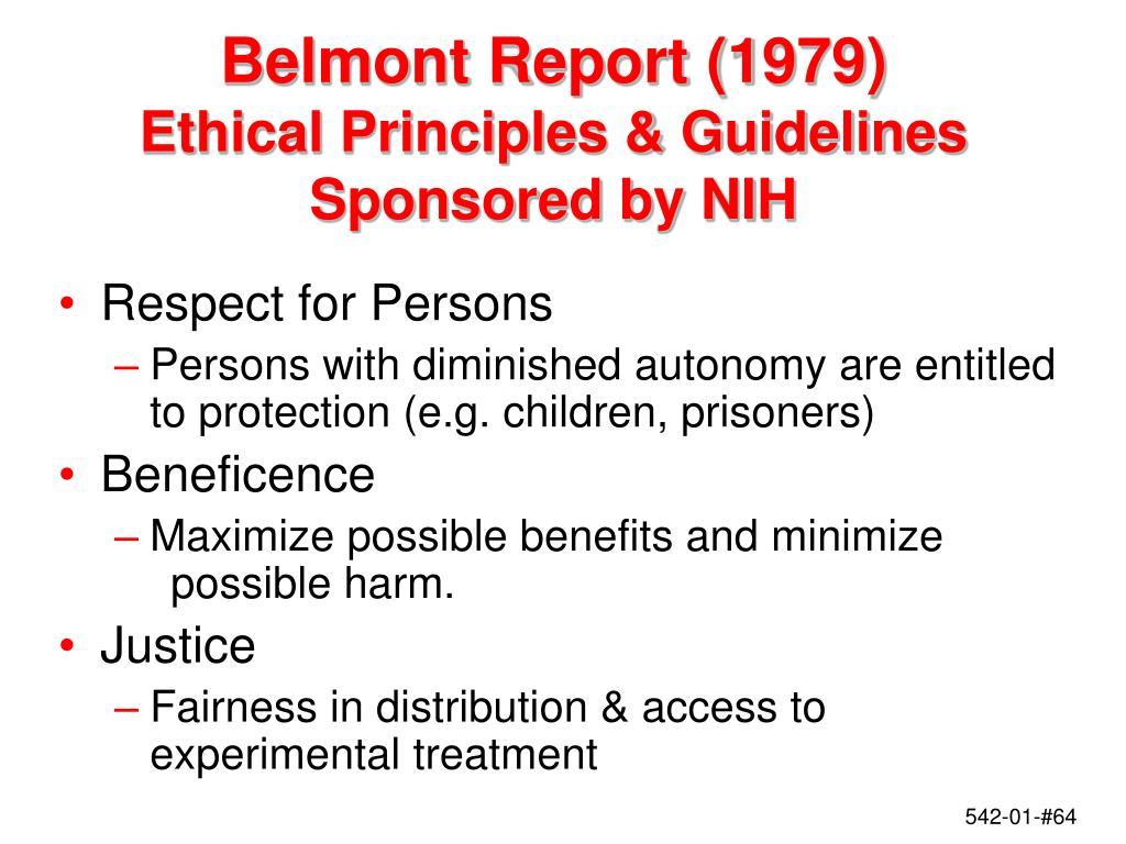 Belmont Report (1979)
