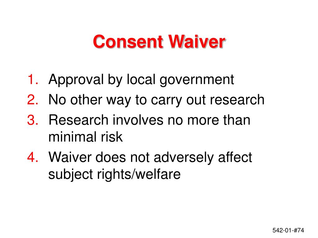 Consent Waiver