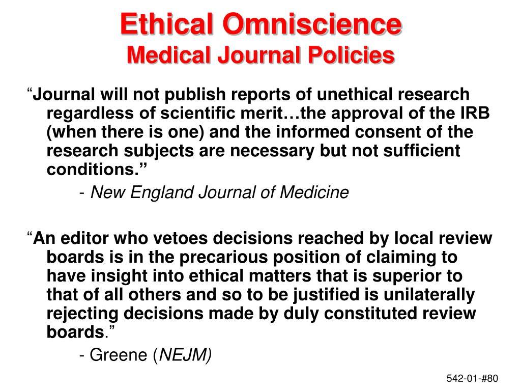 Ethical Omniscience
