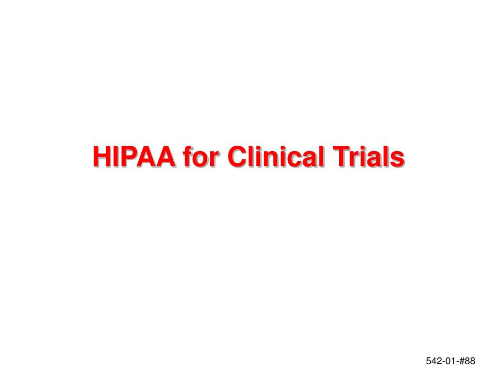 HIPAA for Clinical Trials