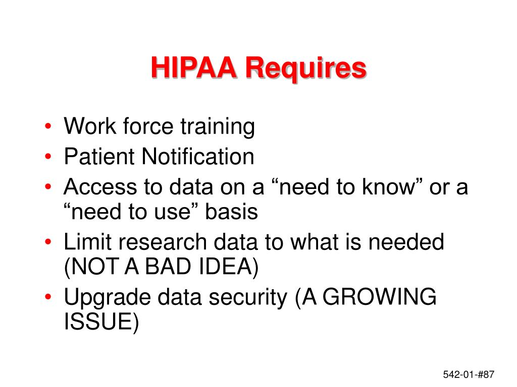 HIPAA Requires