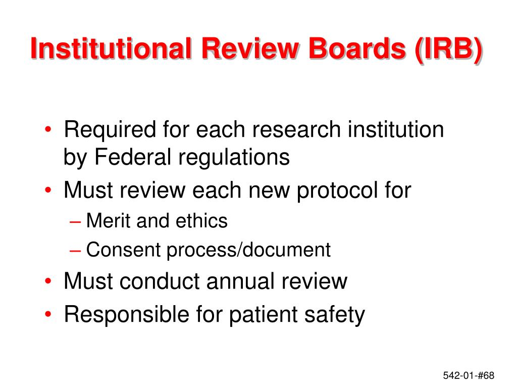 Institutional Review Boards (IRB)