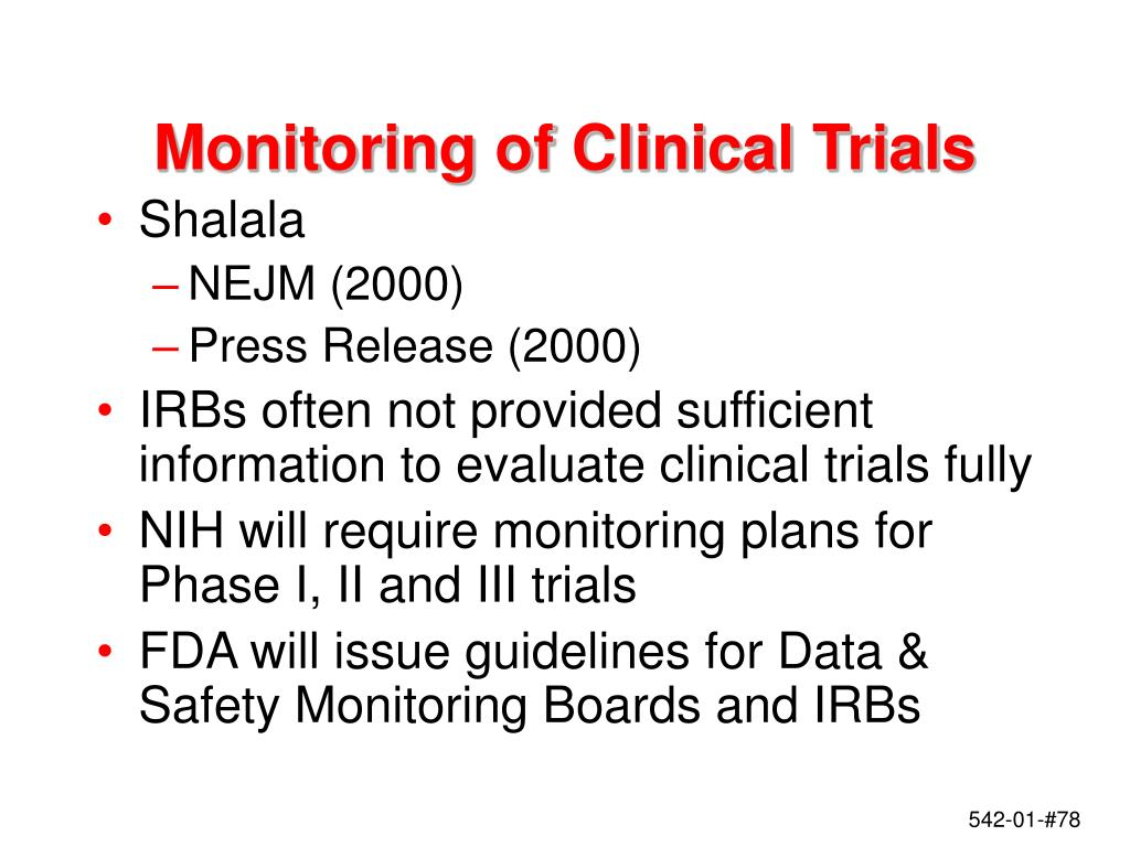 Monitoring of Clinical Trials
