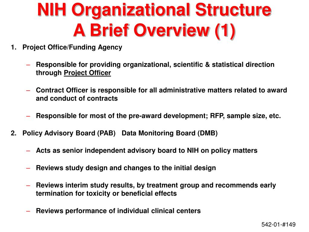 NIH Organizational Structure