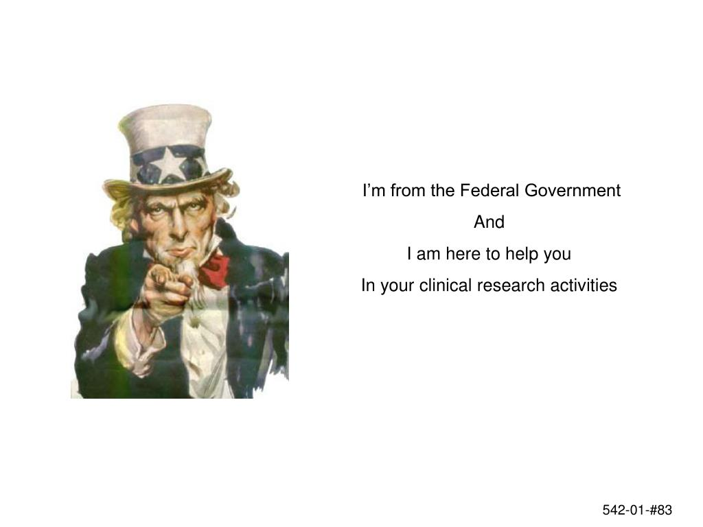 I'm from the Federal Government