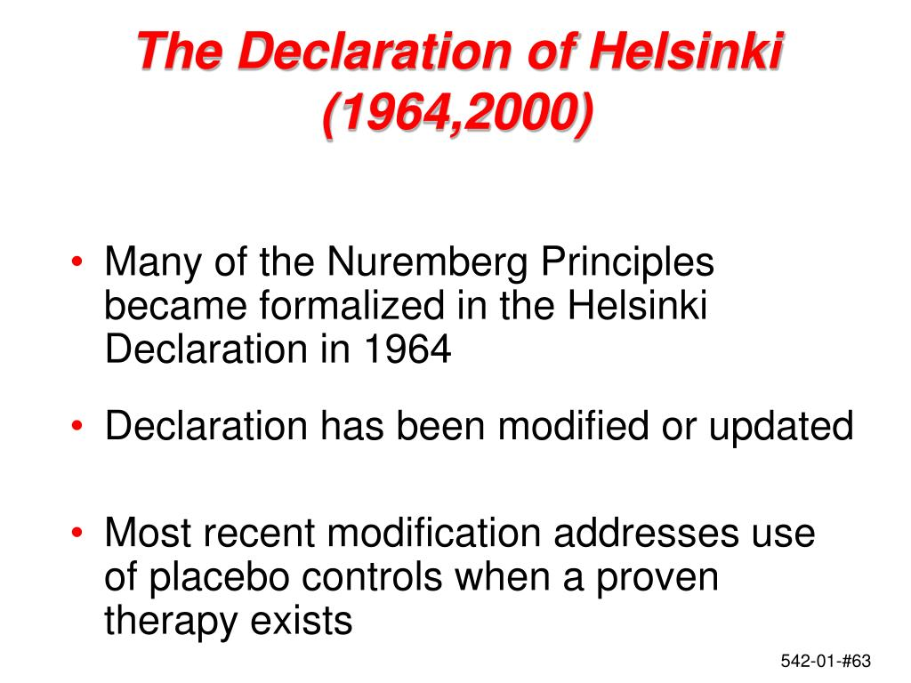 The Declaration of Helsinki