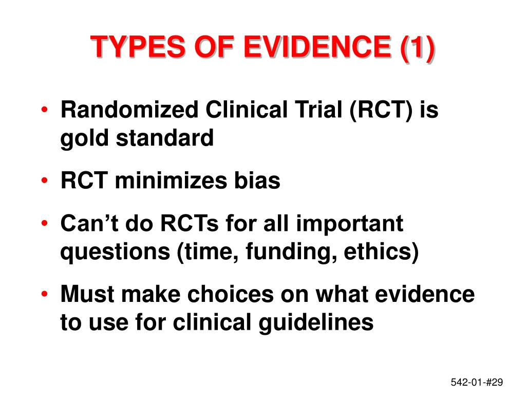 TYPES OF EVIDENCE (1)