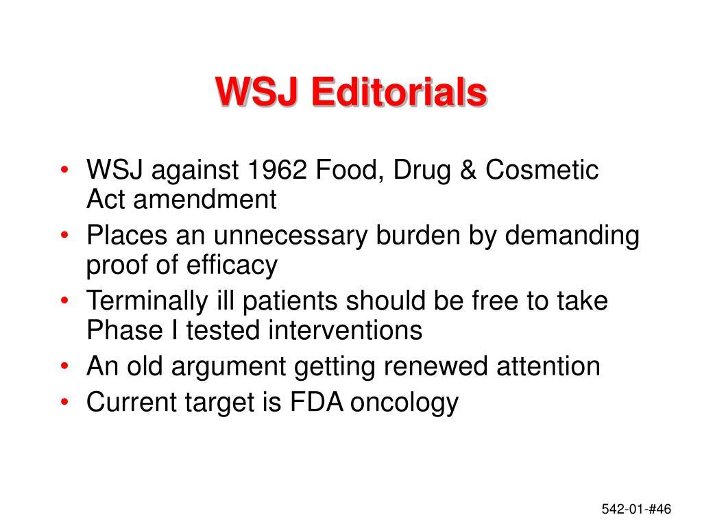 WSJ Editorials