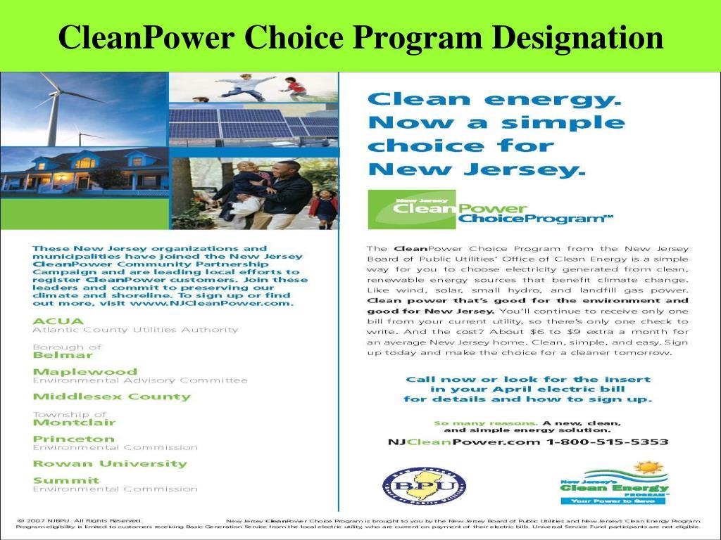 CleanPower Choice Program Designation