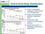 end to end delay distribution