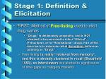 stage 1 definition elicitation