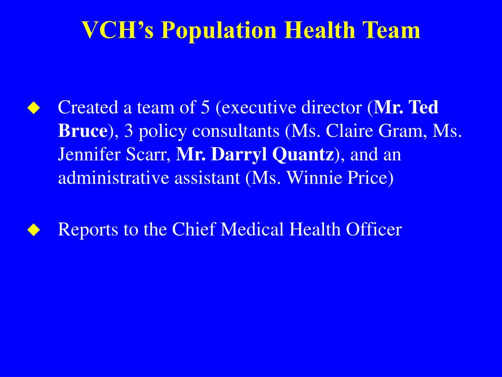 VCH's Population Health Team
