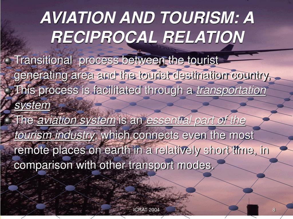 AVIATION AND TOURISM: A RECIPROCAL RELATION