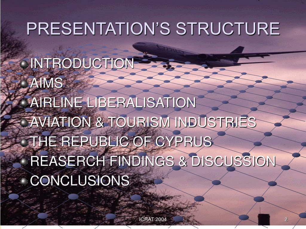 PRESENTATION'S STRUCTURE