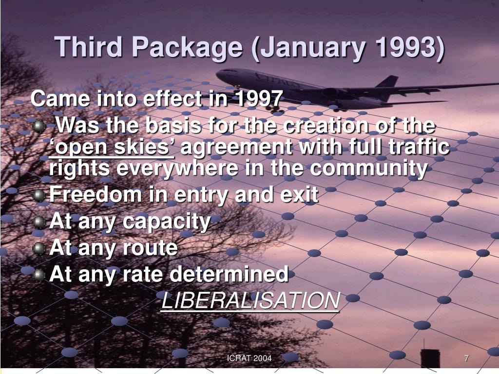 Third Package (January 1993)