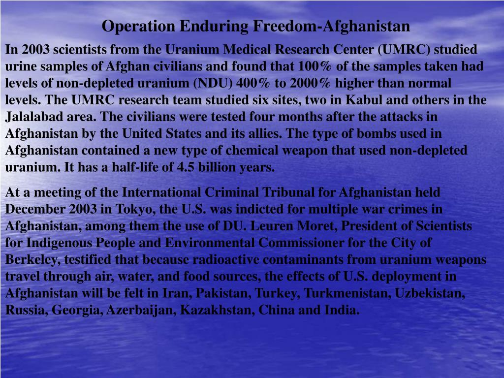 Operation Enduring Freedom-Afghanistan