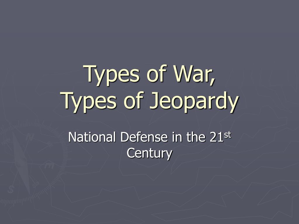Types of War,