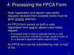 4 processing the fpca form