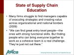 state of supply chain education
