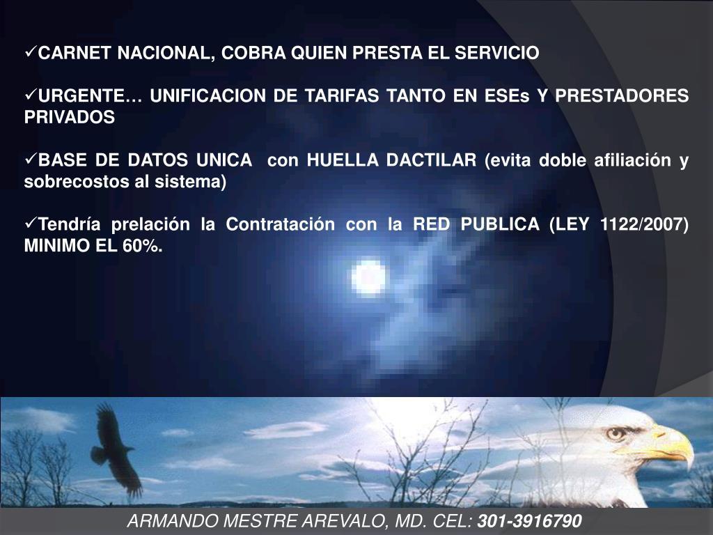 CARNET NACIONAL, COBRA QUIEN PRESTA EL SERVICIO