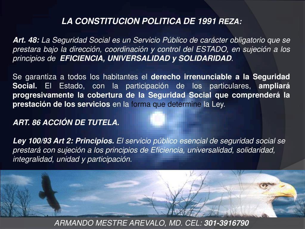 LA CONSTITUCION POLITICA DE 1991