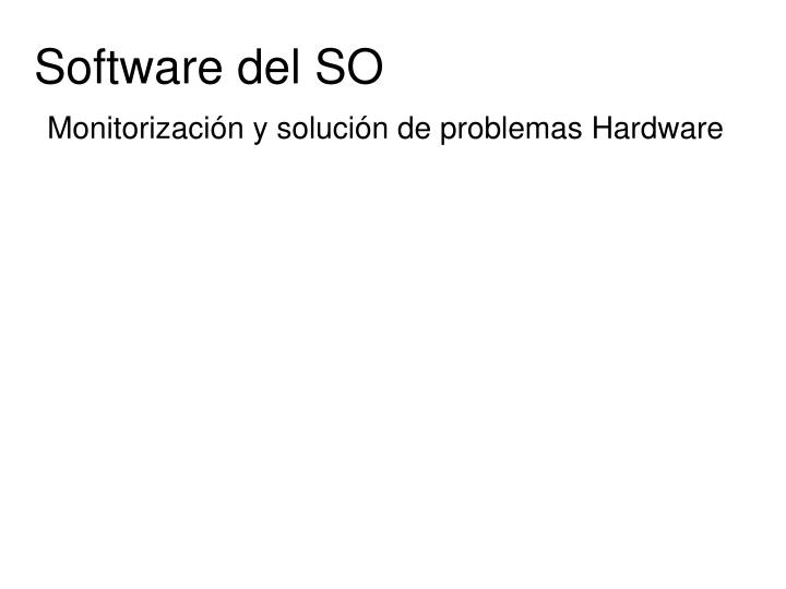 Software del SO