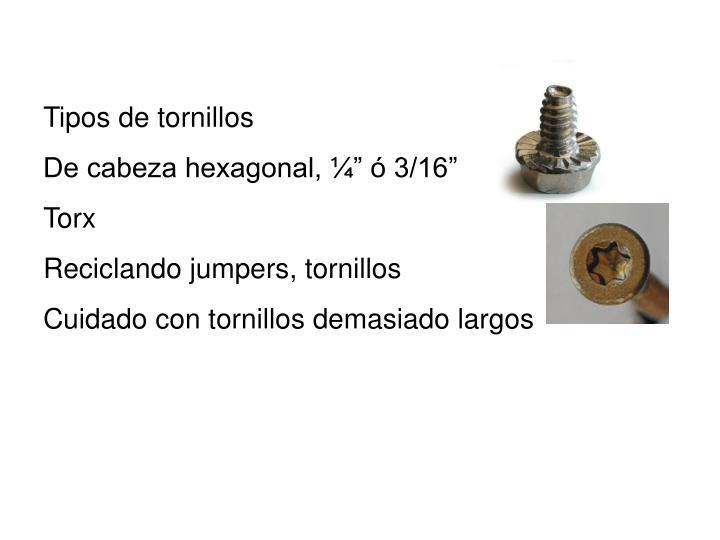 Tipos de tornillos