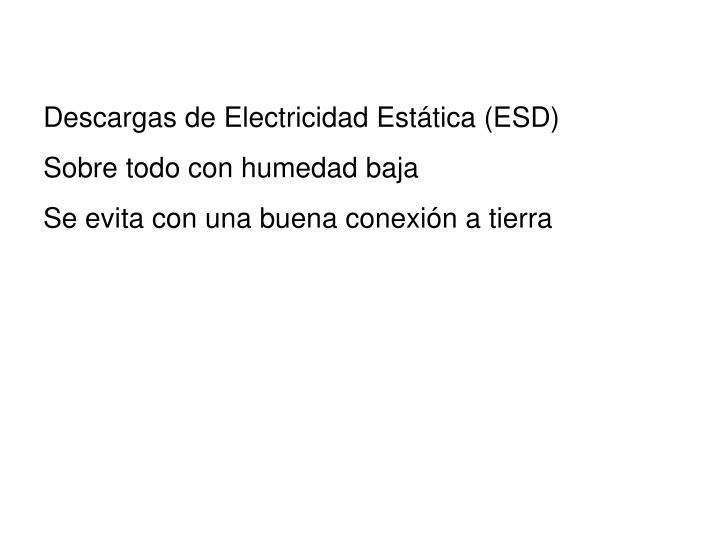 Descargas de Electricidad Estática (ESD)