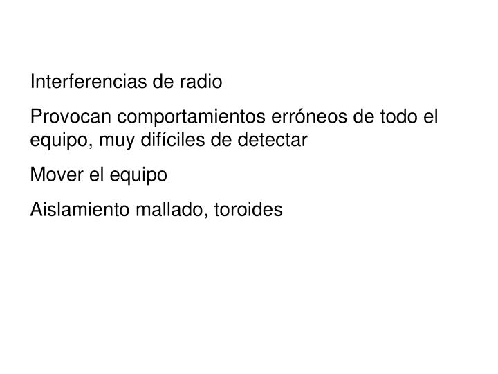 Interferencias de radio