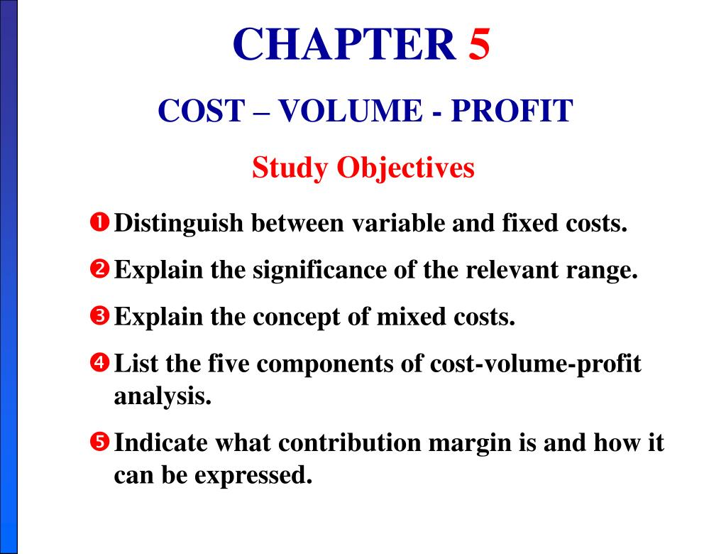 ppt chapter 5 cost volume profit powerpoint