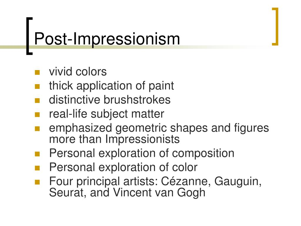 impressionist vs post impressionist Impressionism i chose to study these two types of art because they are so completely opposing  impressionism vs cubism  i found that your blog post.