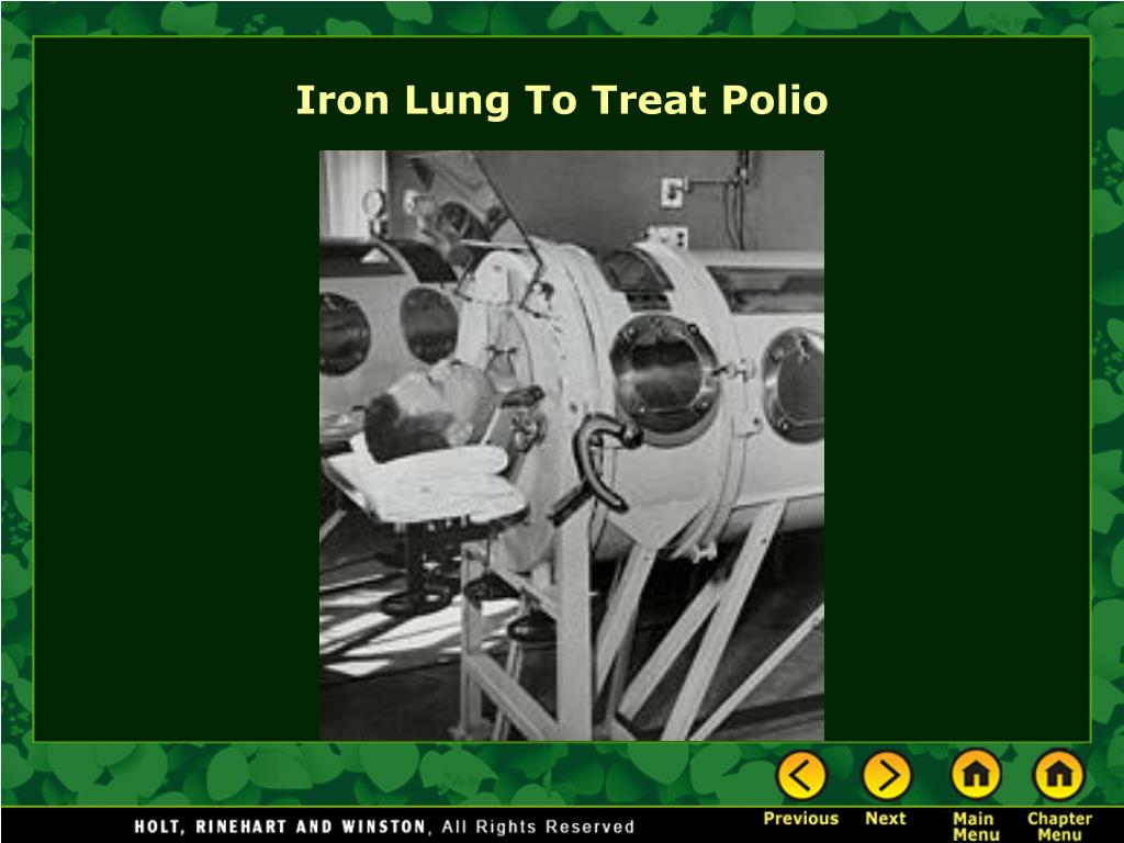Iron Lung To Treat Polio