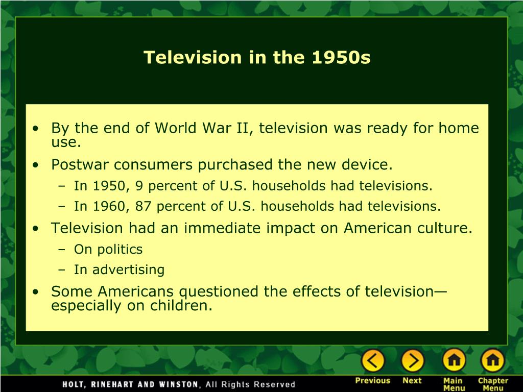 By the end of World War II, television was ready for home use.