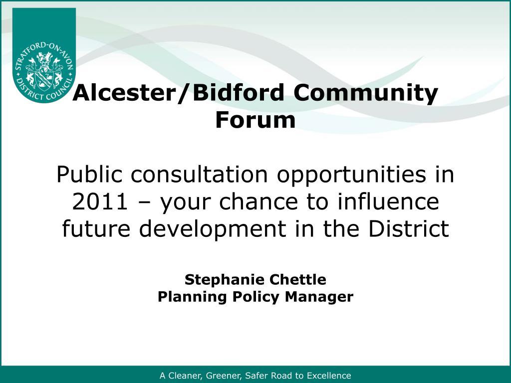 Alcester/Bidford Community Forum