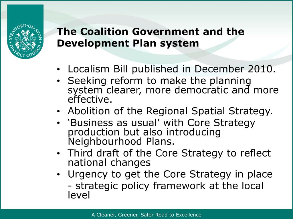 The Coalition Government and the Development Plan system