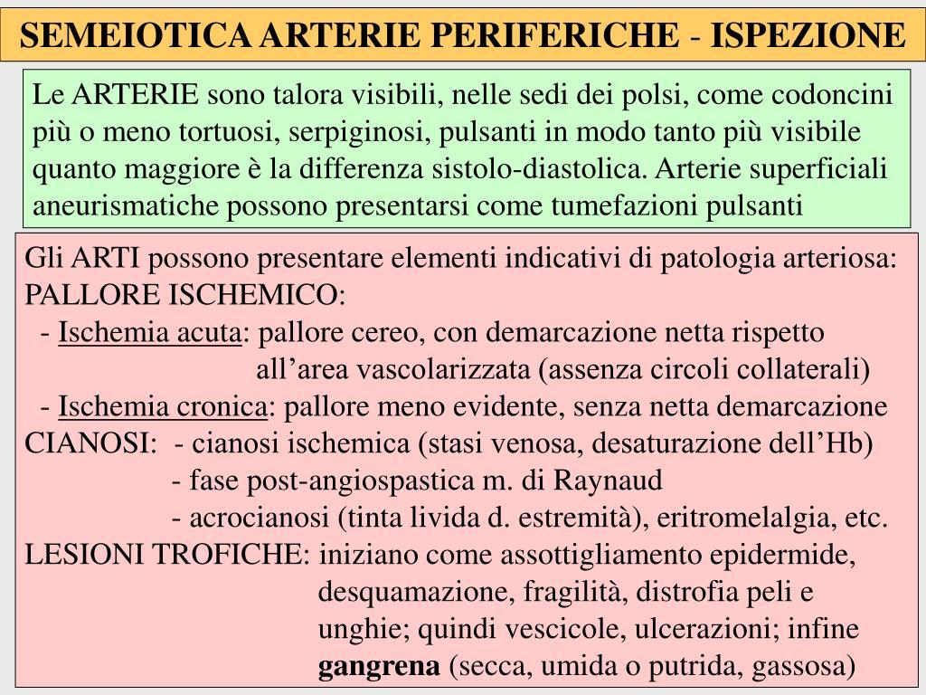 SEMEIOTICA ARTERIE PERIFERICHE