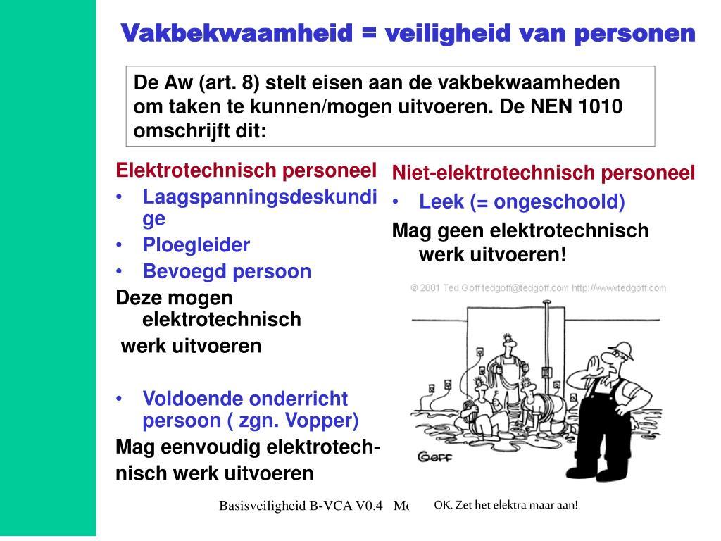 Elektrotechnisch personeel