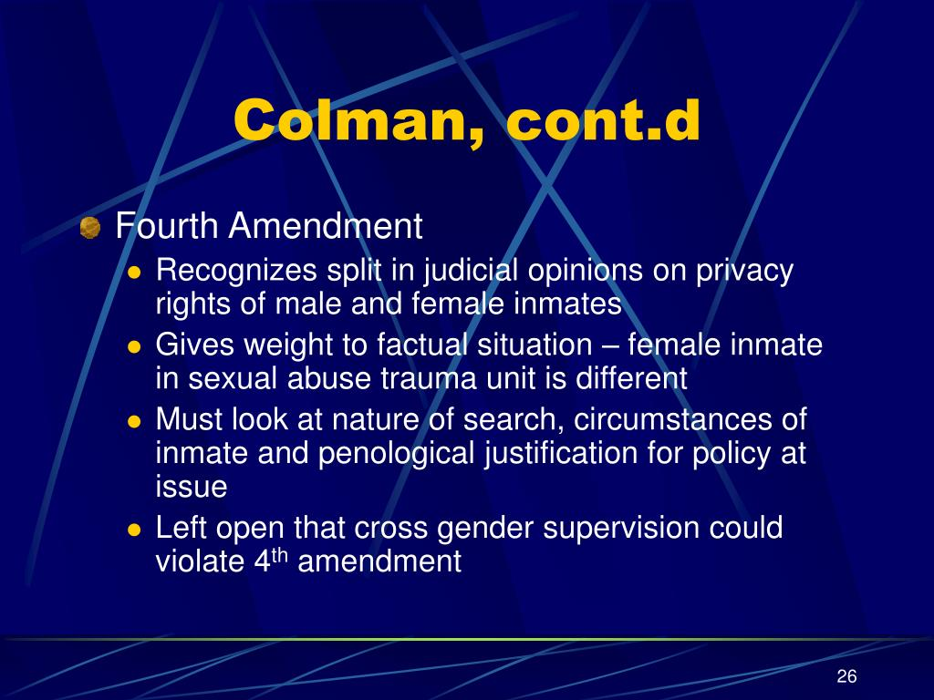 Colman, cont.d