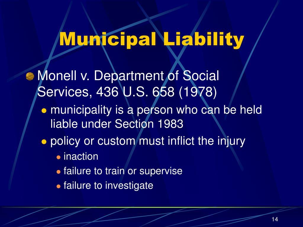 Municipal Liability