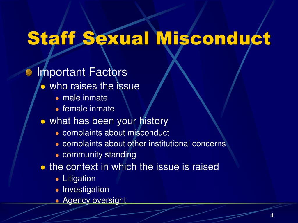 Staff Sexual Misconduct