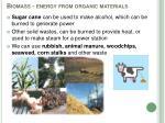 biomass energy from organic materials