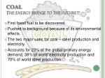 coal the energy bridge to the future
