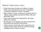 energy from fossil fuels7