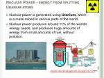 nuclear power energy from splitting uranium atoms