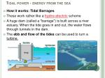 tidal power energy from the sea