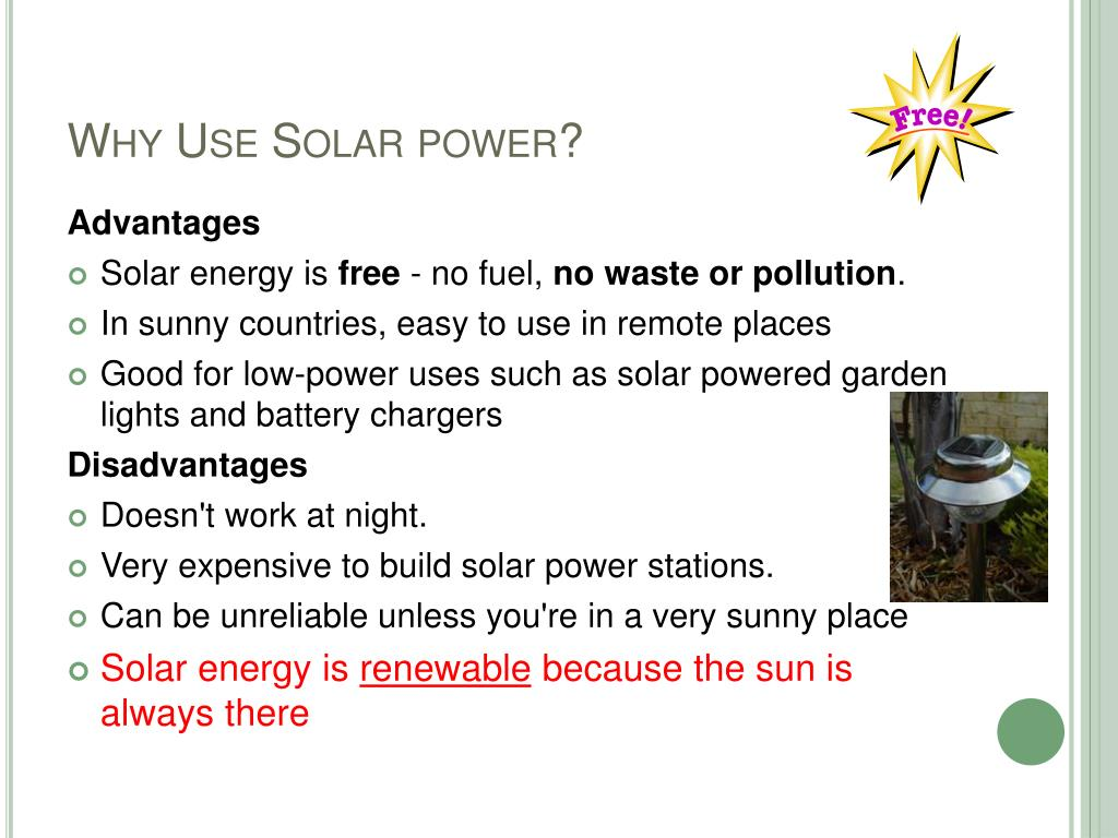 Why Use Solar power?