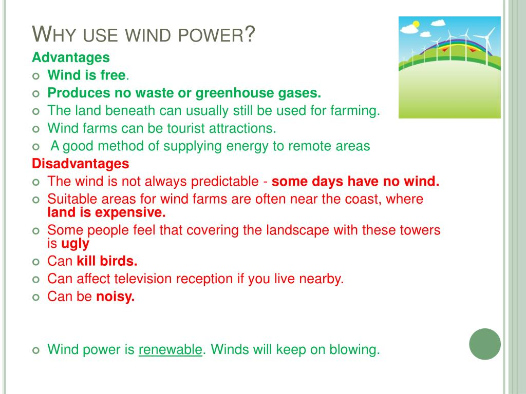 Why use wind power?