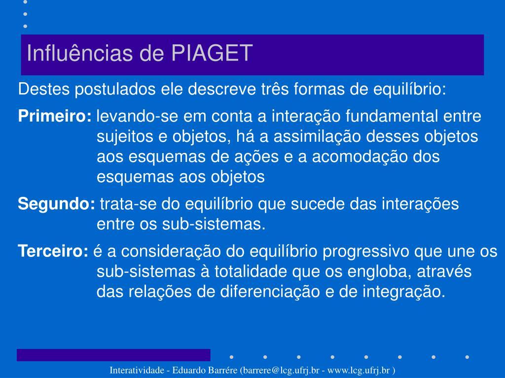 Influências de PIAGET